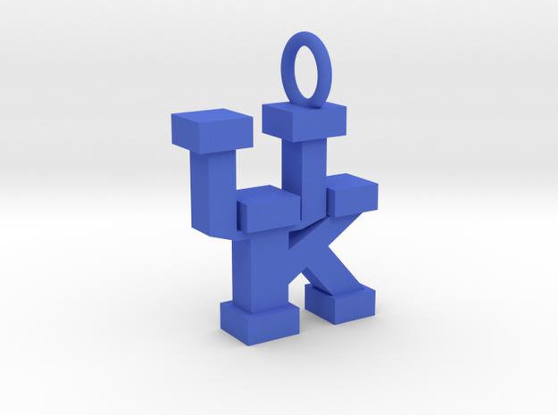 UK Pendant in Blue Processed Versatile Plastic