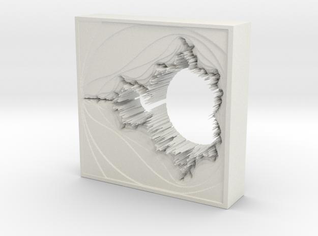 Mandelbrot Vase 2 without Base in White Natural Versatile Plastic
