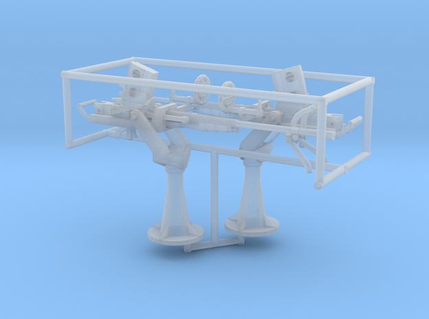 2 X 1/72 IJN Type 96 25mm Single Mount in Smooth Fine Detail Plastic