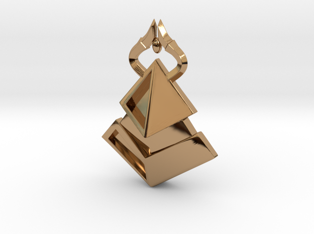 Amonkhet Pendant - Bolas Horns in Polished Brass
