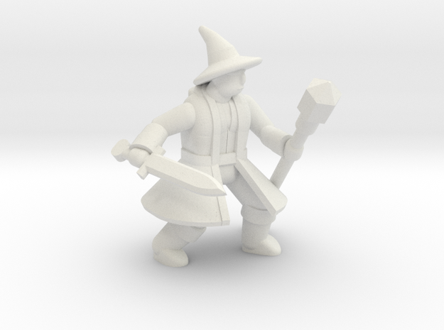 General Wizard Mini 2 (Sword and Staff) in White Strong & Flexible