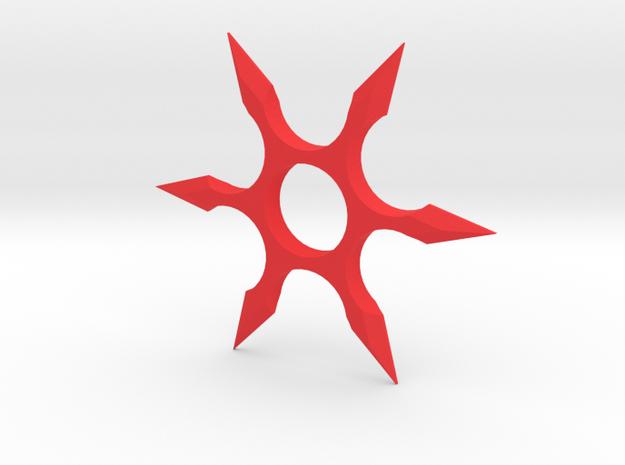 Shuriken Spinner in Red Processed Versatile Plastic