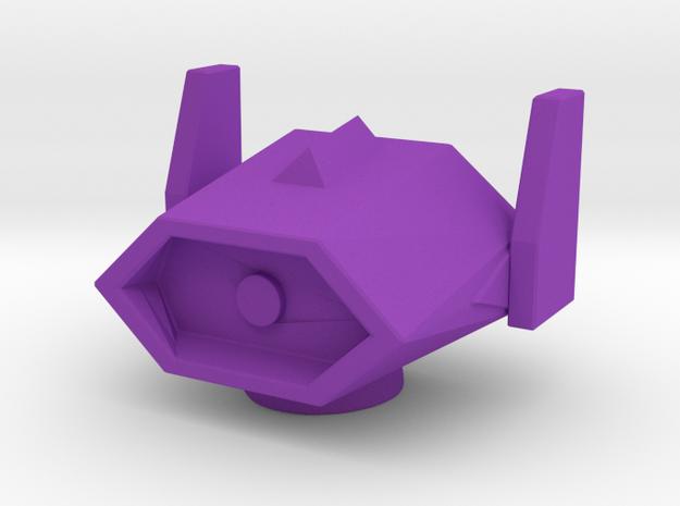 ShockWave Head 18mm for a Combiner Cyclonus body in Purple Processed Versatile Plastic