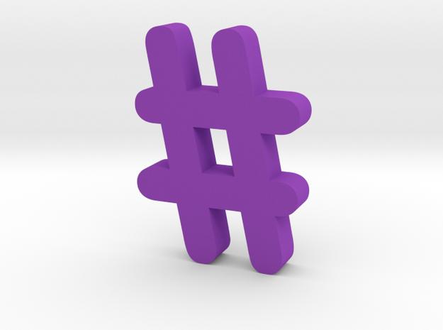 Hash  in Purple Processed Versatile Plastic