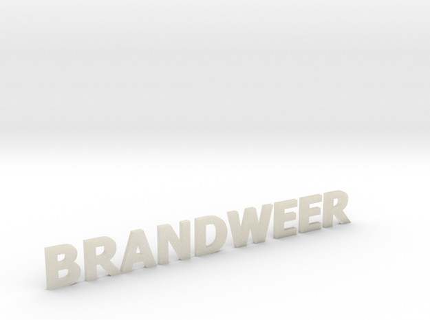 Brandweer letters zonder steun 90 mm breed in White Acrylic