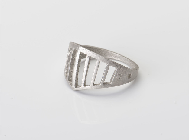 visor ring in Polished Bronzed Silver Steel: 6.25 / 52.125