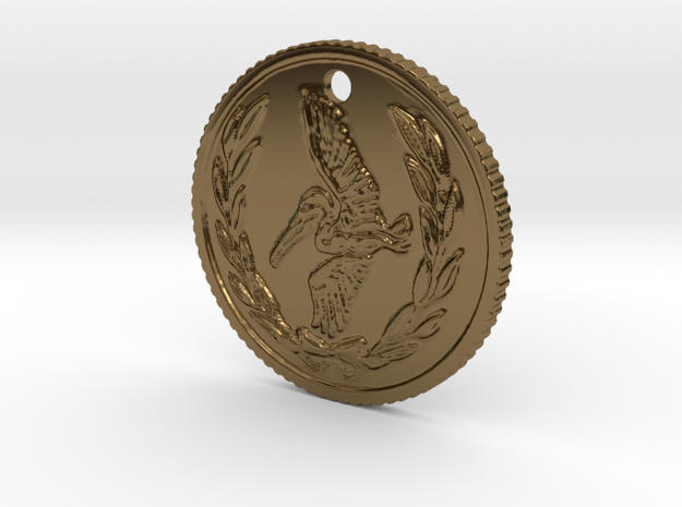 Resident evil 7 biohazard coin necklace (50cent si in Polished Bronze