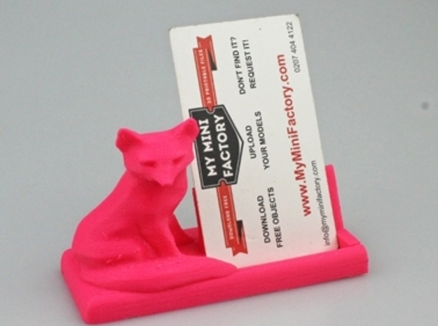 Fox Bussiness Card Holder in Full Color Sandstone