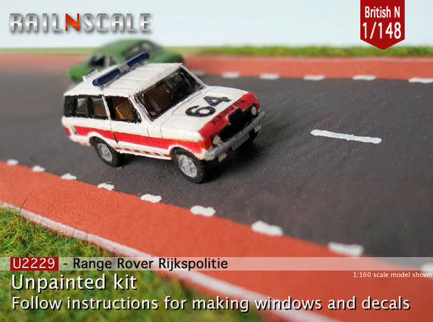 Range Rover Rijkspolitie (British N 1:148) in Frosted Ultra Detail