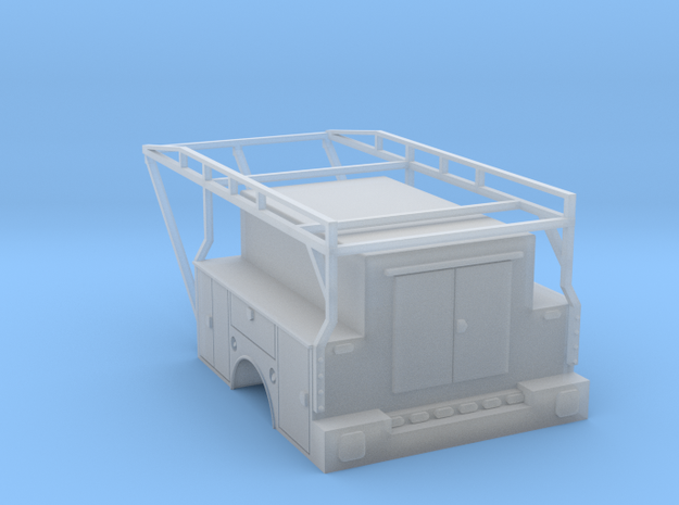 Dually Truck Bed With Enclosed Full Box 1-87 HO Sc in Smooth Fine Detail Plastic
