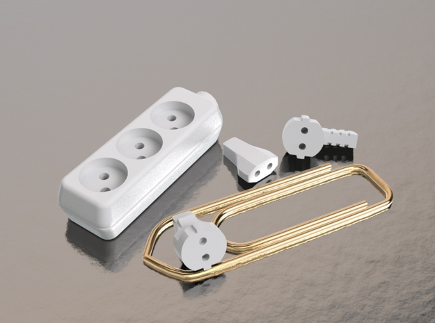 12 EU Plugs and 2 extension parts for a dollhouse