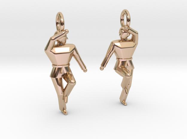 Earings - Keumgang in 14k Rose Gold Plated Brass