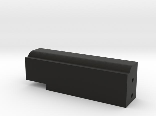 CMAX+XJ Rear Body Mount Left in Black Natural Versatile Plastic