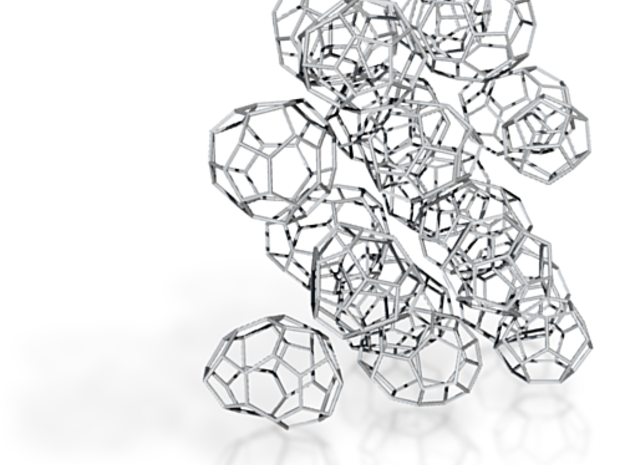 19 small achiral fullerenes 3d printed