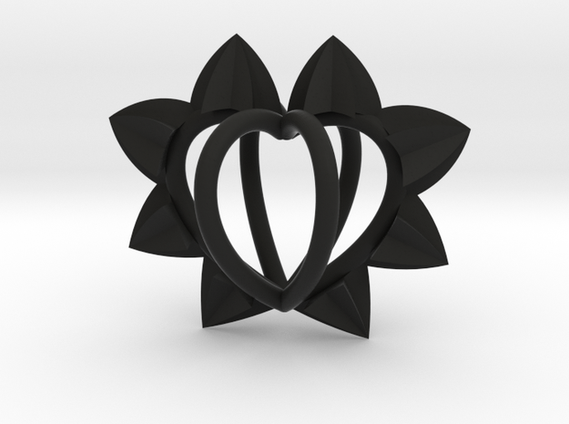 Spiked Cage Heart $25-$300 in Black Strong & Flexible