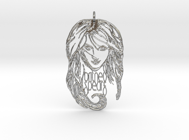 Britney Spears Pendant - Exclusive 3D Britney Spea in Natural Silver