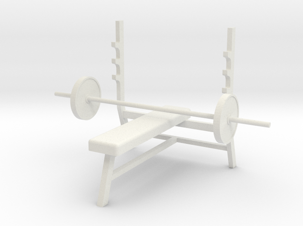 1:48 Bench Press in White Natural Versatile Plastic