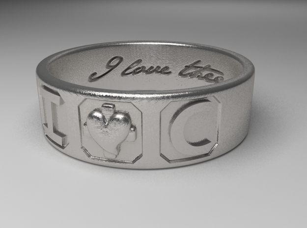 I And C ring in Raw Silver