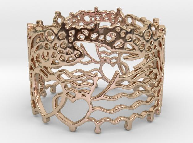 Dolphin Bracelet in 14k Rose Gold Plated Brass