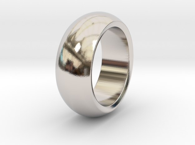 Ralph - Slick Ring Massiv in Rhodium Plated: 6 / 51.5