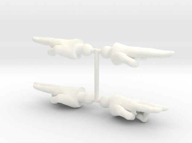 Enforcer Hands 2-Pack in White Processed Versatile Plastic