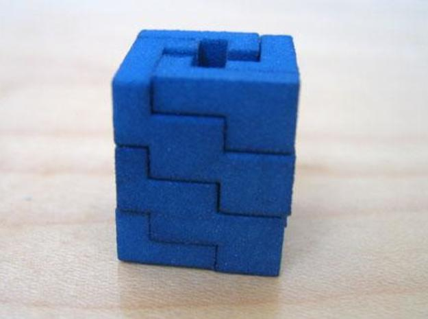 """Quad Helix 3d printed Quad Helix in """"Blue Jeans Strong and Flexible"""""""