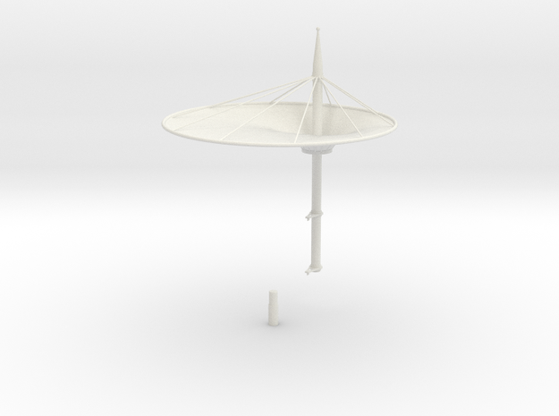 Roof for the grandstands - scale 1/32 in White Natural Versatile Plastic