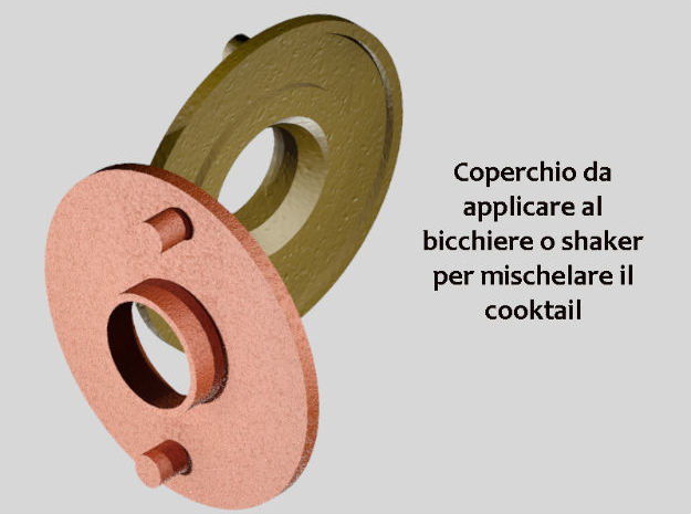 Coperchio Bicchiere Sceker in White Strong & Flexible