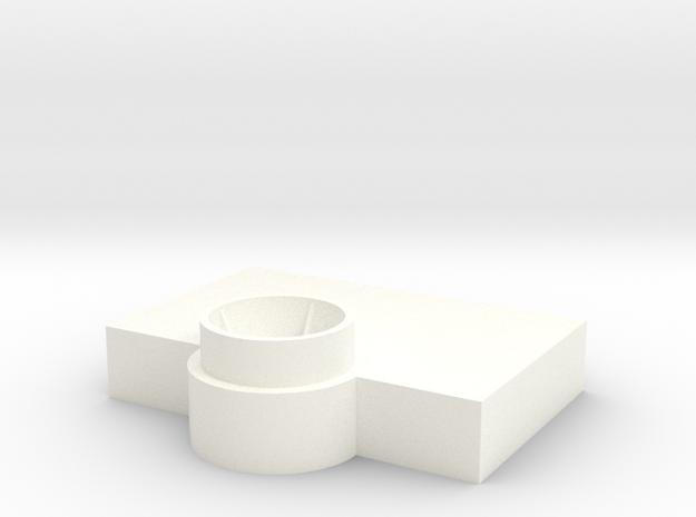 Bridge - Captain's Chair Platform 12 in White Processed Versatile Plastic