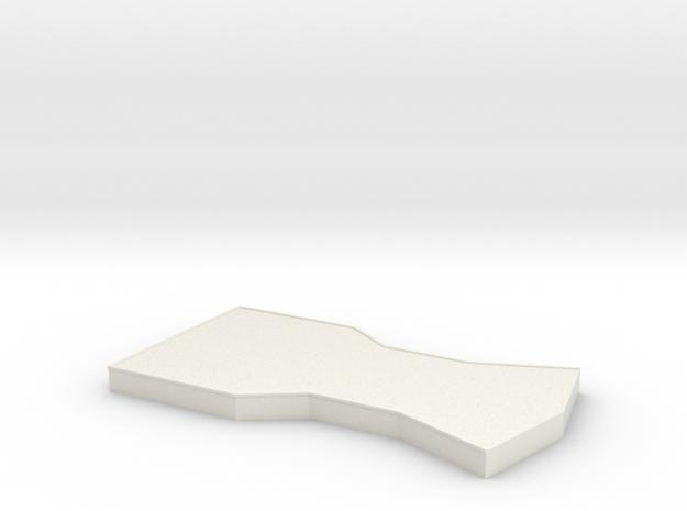 Bridge - Center Platform 12 in White Natural Versatile Plastic