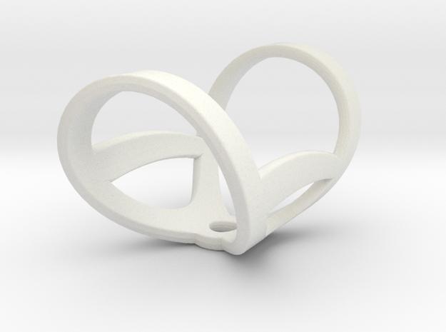 Infinity ring splint 6'' to 7'', length 32 mm in White Natural Versatile Plastic