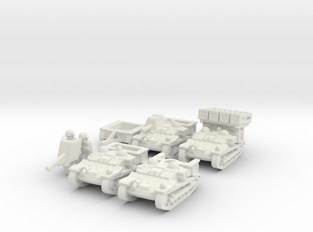 Renault Set 1/144 in White Natural Versatile Plastic