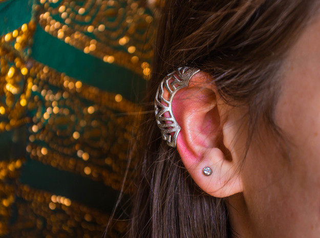 Springtime Ear Jacket - Right in Polished Nickel Steel: Small