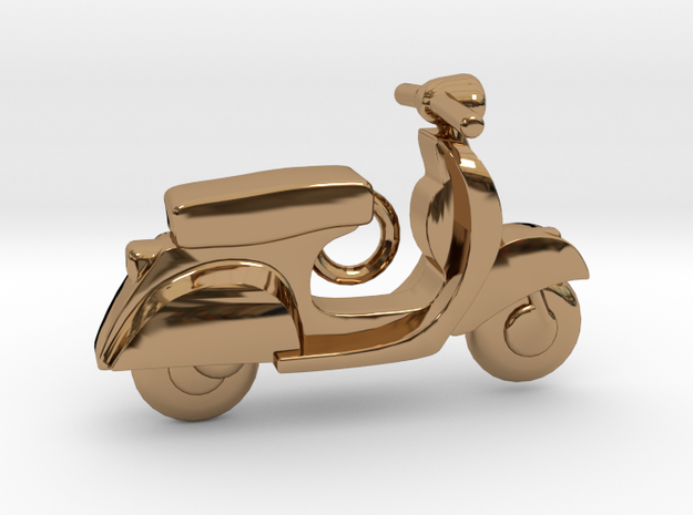 Scooter Pendant in Polished Brass