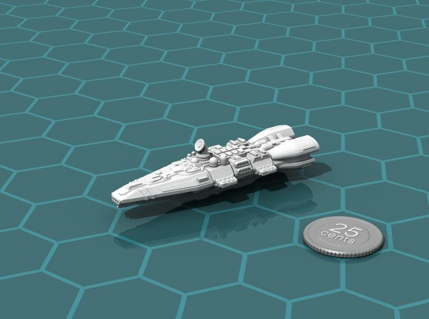 Colonial Battlecruiser in White Natural Versatile Plastic