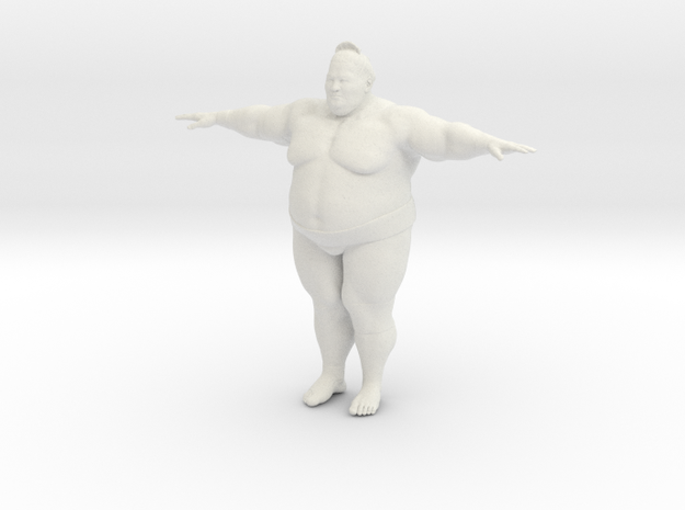 Japanese Sumo Tpose 15cm in White Strong & Flexible