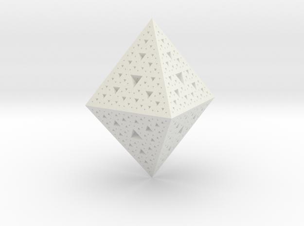 Sierpinski Octohedron 618 in White Strong & Flexible