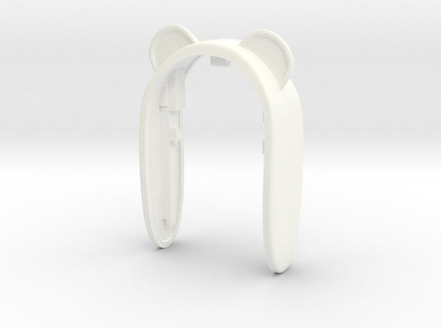 PANDA KEY FOB  in White Processed Versatile Plastic