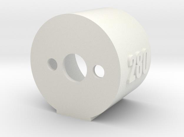 Motor Mount 280 - Version 2 in White Natural Versatile Plastic