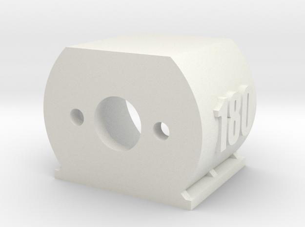 Motor Mount 180 - Version 2 in White Natural Versatile Plastic