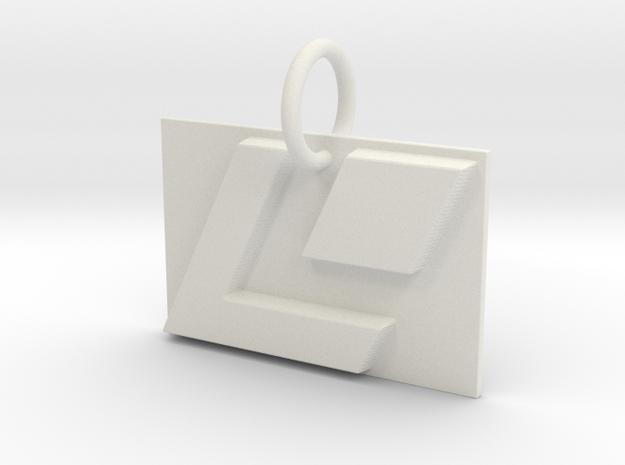 LaserDisc Keychain in White Strong & Flexible