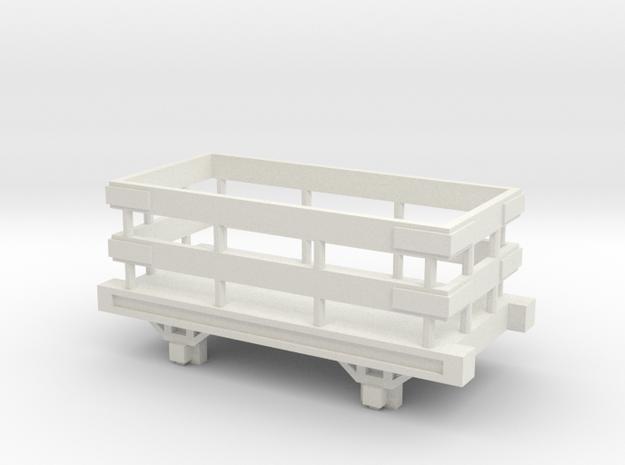 OO9 Narrow Gauge Slate Truck Talyllyn / SR in White Natural Versatile Plastic