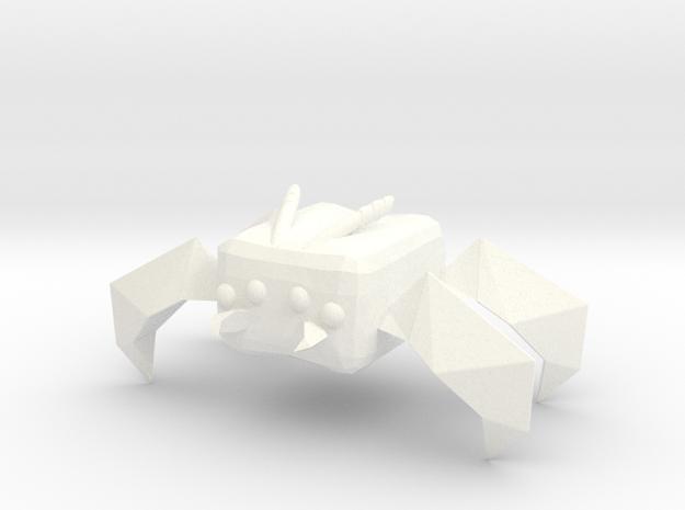 Crasher in White Processed Versatile Plastic