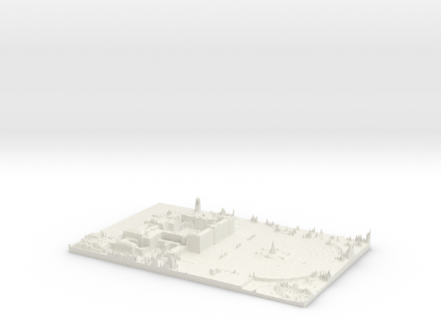 Buckingham Palace Map, London in White Strong & Flexible