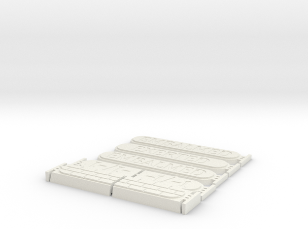 Stackable Amonkhet Counters in White Natural Versatile Plastic