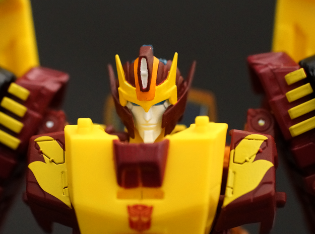 mtmte Rodimus face  in Frosted Extreme Detail