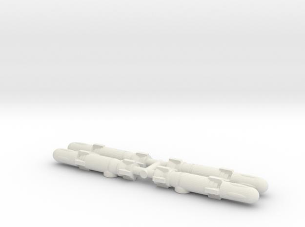 Machine Wars/Predator Missiles (Titans Return) in White Strong & Flexible: Medium