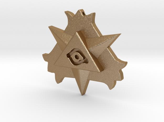 Resurrection Amulet in Matte Gold Steel