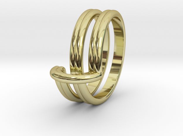 Infinity Ring in 18k Gold Plated Brass
