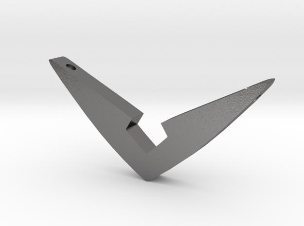 V Pendant Medium (1.5 inch) in Polished Nickel Steel: Medium